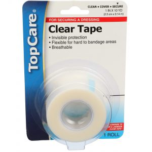 Clear Tape Step 3 for 3-Step Wound Care 1 In X 10 Yd