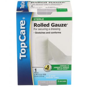 Rolled Gauze Step 3 for 3-Step Wound Care  2 In X 2.5 Yd