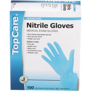 Nitrile Gloves Powder-Free 100 Ct