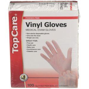 Vinyl Gloves Powder-Free 100 Ct