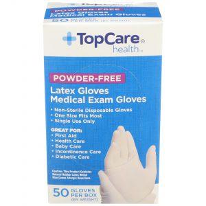Latex Medical Exam Gloves Powder-Free 50 Ct