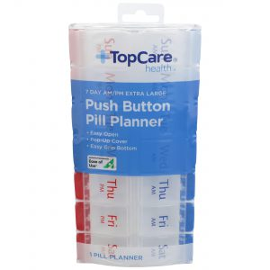 7-Day AM/PM Extra Large Push Button Pill PLanner
