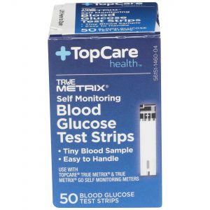 Blood Glucose Test Strips Self Monitoring 50 Ct