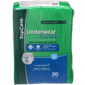 Underwear for Men Max Absorbency S/M 20 Ct