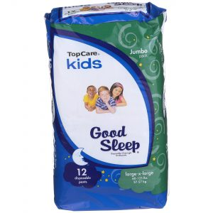 Kids Overnight Underpants L/XL 60-125Lbs 12 Ct
