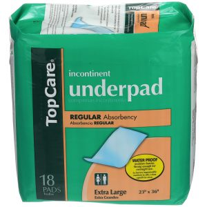 Underpads Large 18 Ct