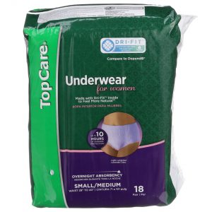 Underwear for Women Overnight Protection S/M 18 Ct