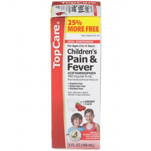 Children's Pain & Fever Liquid Alcohol Free Cherry 4 Oz