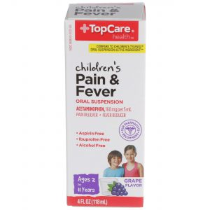 Children's Pain & Fever Liquid Alcohol Free Grape 4 Oz
