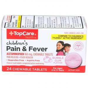 Children's Pain & Fever Chewable Tablet Bubble Gum 24 Ct