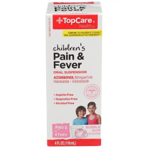Children's Pain & Fever Liquic Alcohol Free Bubble Gum 4 Oz