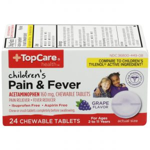 Children's Pain & Fever Chewable Tablet Grape 24 Ct