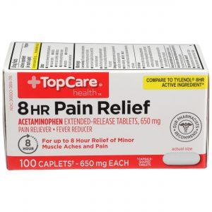 8 Hr Pain Relief Caplet 100 Ct