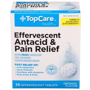 Effervescent Antacid & Pain Relief Effervescent Tablet 36 Ct