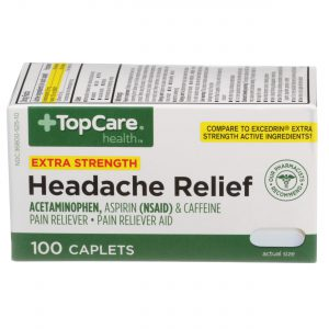 Extra Strength Headache Relief Caplet 2 Bottles / 100 Ct