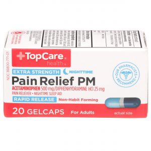 Extra Strength Pain Relief PM Rapid Release Gelcap 20 Ct