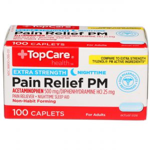 Extra Strength Pain Relief PM Caplet 100 Ct
