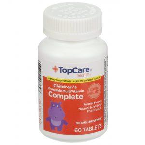 Children's Complete MultiVitamin Chewable Tablet Fruit Flavors 60 Ct