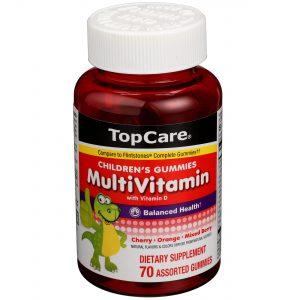 Children's MultiVitamin Gummies Fruit Flavors 70 Ct