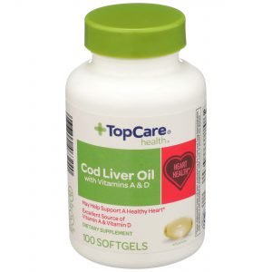 Cod Liver Oil Softgel 100 Ct