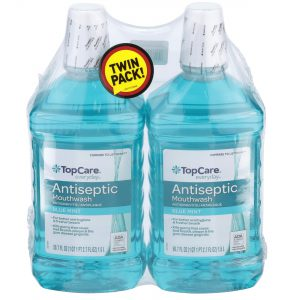 Mouthwash Antiseptic, Blue Mint, Twin Pack