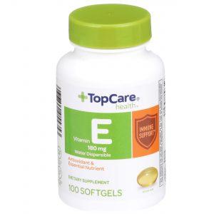 Vitamin E Water Dispersible Softgel 100 Ct