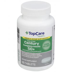 Century Complete Adults 50+ MultiVitamin Iron-Free Tablet 125 Ct