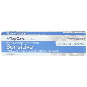 Toothpaste Sensitive Max Strength, Extra Whitening