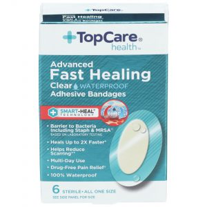 Advanced Fast Healing Clear Waterproof Bandages 6 Ct