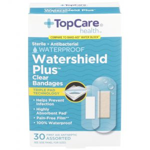 Watershield Plus Clear Bandages 2 Assorted Sizes 30 Ct