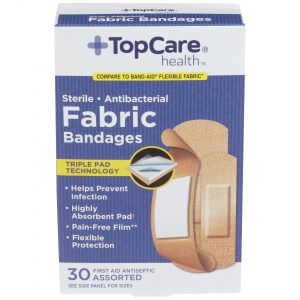 Fabric Bandages 3 Assorted Sizes 30 Ct