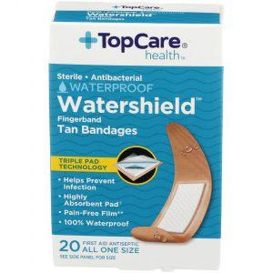 Watershield Fingerband Tan Bandages 20 Ct