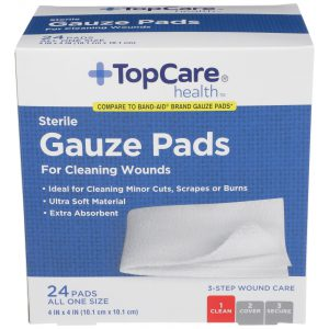 Gauze Pads 4 In X 4 In  24 Ct