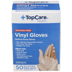 Vinyl Gloves Powder-Free 50 Ct