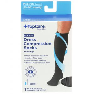 Men's Dress Compression Socks Black L