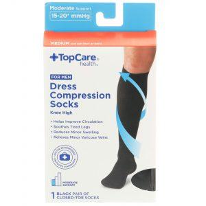 Men's Dress Compression Socks Black M