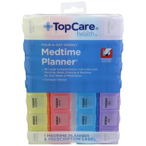 Four-A-Day Weekly Medtime Planner