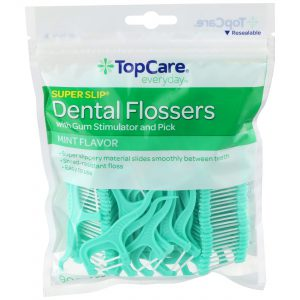 Dental Flossers Super Slip, Mint