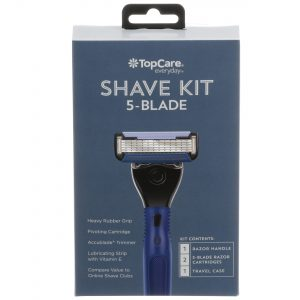 5-Blade Shave Kit 1 Handle, 2 Cartridges