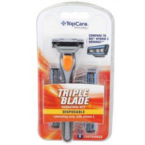 Triple Blade Men's Disposable Shaving Kit