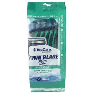 Twin Blade Plus Men's Disposable Razors