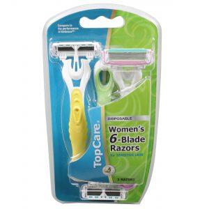 6-Blade Women's Disposable Razors