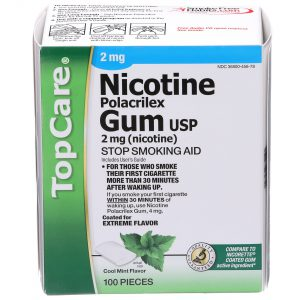 Nicotine Gum Coated Cool Mint 2Mg 100 Ct
