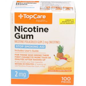 Nicotine Gum Coated Fruit Wave 2Mg 100 Ct