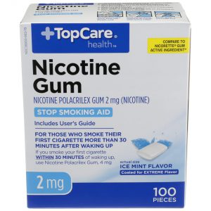 Nicotine Gum Coated Ice Mint 2Mg 100 Ct