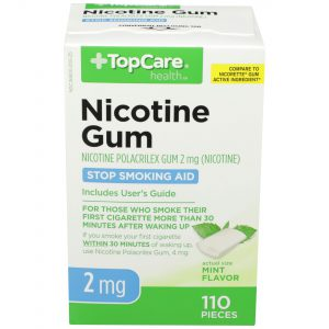 Nicotine Gum Uncoated Mint 2Mg 110 Ct