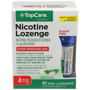 Nicotine Lozenge Sugar Free Mini Mint 4Mg 3X27 81 Ct