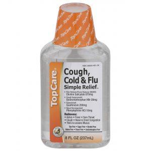Cough, Cold & Flu Simple Relief™ Dye-Free Sugar-Free Liquid 8 Oz