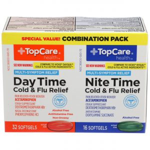 Day Time & Nite Time Cold & Flu Relief Softgel 48 Ct