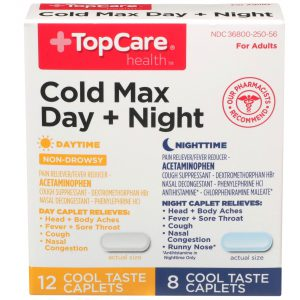 Cold Max Day + Night Caplet Cool Taste 20 Ct